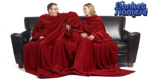 Two Person Slanket Siamese Introduced: Your Move Snuggie