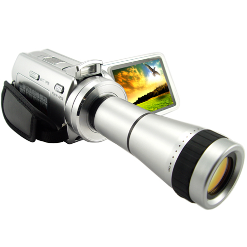 Papa, Paparazzi: Video Camera with Telescope Lens