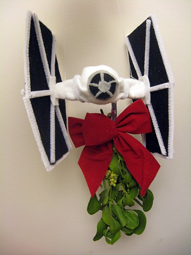 Tie Fighter Mistletoe Holder