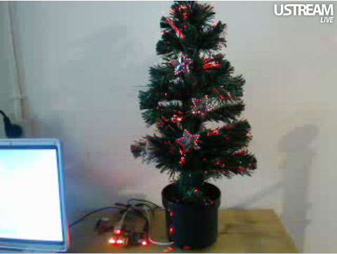 tweettree Twitter controlled Christmas tree Pinboard