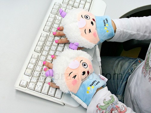 Just Plain Baaaaaaa-d: USB Heated Sheep Gloves