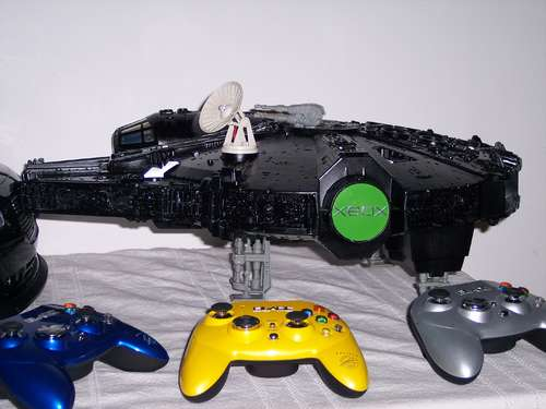 Modding an XBox into Star Wars Millennium Falcon