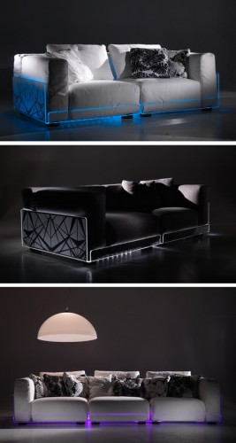Jersey Shore Your Couch with LED Lights