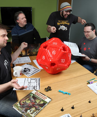Inflatable 20 Sided Dice