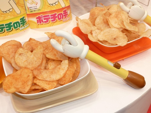 Potato Chip Eating Hand Keeps Your Fingers Clean