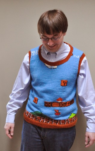 Super Mario Sweater Vest FTW!