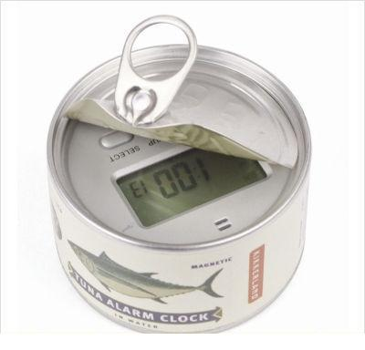 tunafish can alarm clock