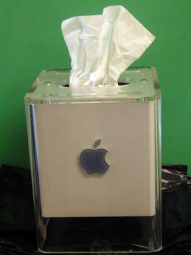 Apple G4 Cube Turned Tissue Box