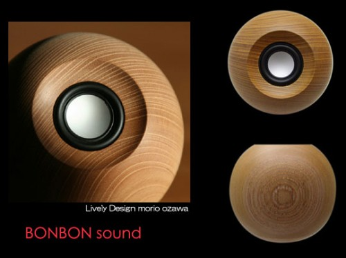 Bon Bon Sound Round Wooden Speaker from Japan