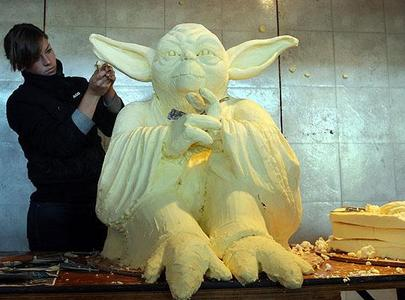 Giant Yoda Made of Butter