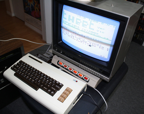 Tweeting Commodore Computer