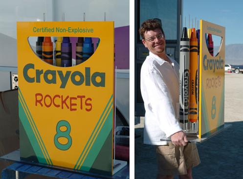Crayola Crayon Rockets Launched