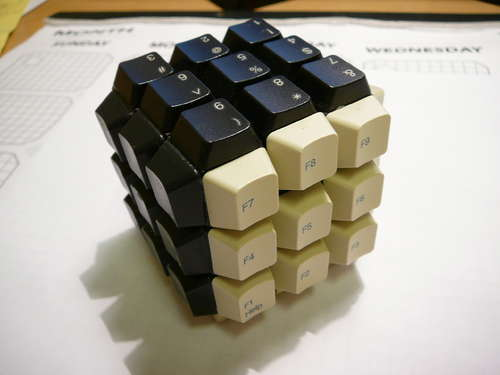 Keyboard Keys Rubik's Cube