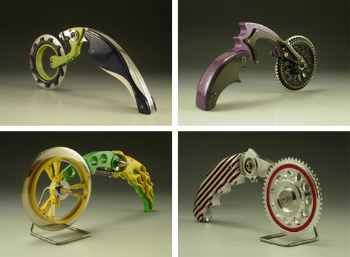 Motorcycle Inspired Pizza Cutters