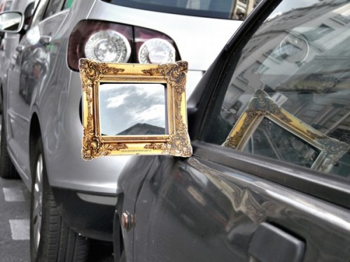 This is Not the Way to Class Up Your Car's Sideview Mirrors