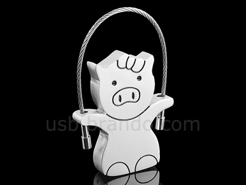USB Pig Keychain Flash Drive
