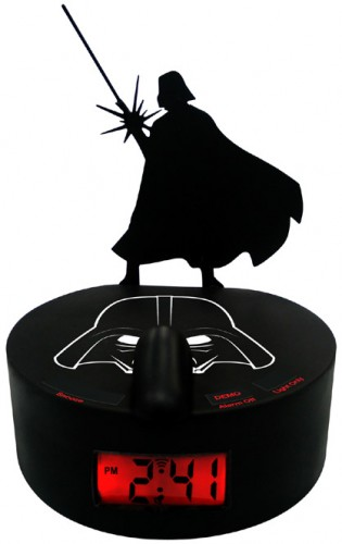 Darth Vader Shadow Alarm Clock Wakes You Up on the Dark Side