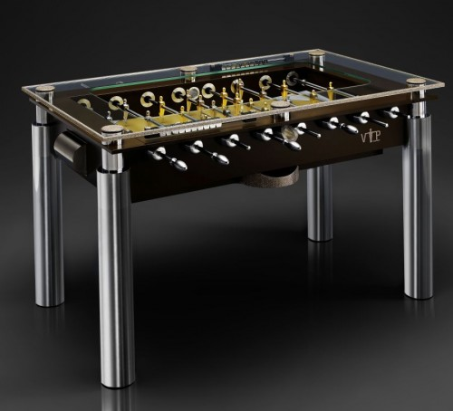 Foosball Table Tastefully Encrusted with 18,000 Swarovski Crystals