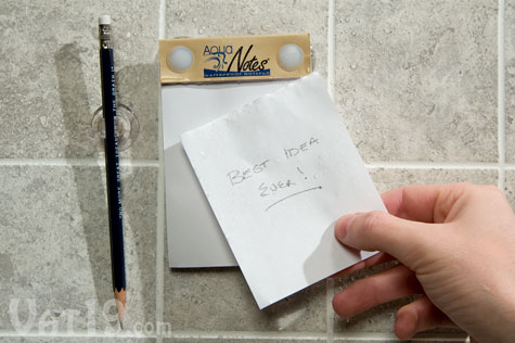 AquaNotes Waterproof Notepad for Shower Note Taking | CraziestGadgets.com :  waterproof notepad bathroom shower