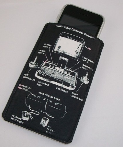 Retro Atari 2600 Diagram iPhone Case