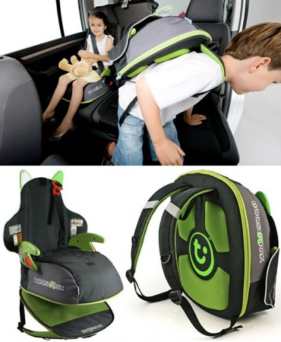BoostAPak Turns Your Kids into Booster Seat Carrying Sherpas