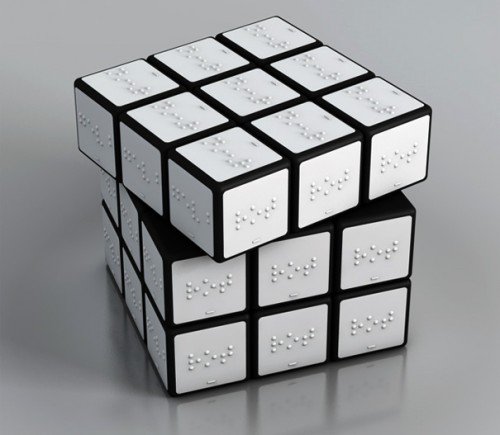 Braille Rubik's Cube is Only Easier For the Blind