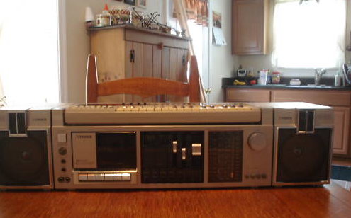 Vintage Gadgets: Fisher Boombox with Detachable Synthesizer