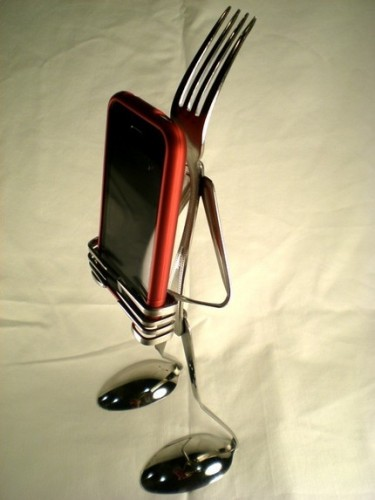 Fork and Spoon iPhone Stand