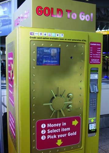 gold vending machine 356x500 10 Most Unusual Vending Machines