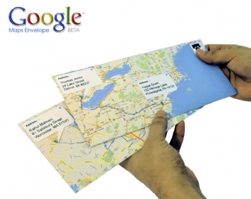 google envelopes 500x397 Google Maps Envelopes Let You Send Snail  Mail in Gmaps
