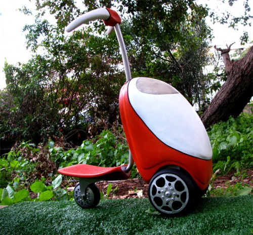 Lawnmower Scooter Makes Mowing the Lawn Fun, Stylish