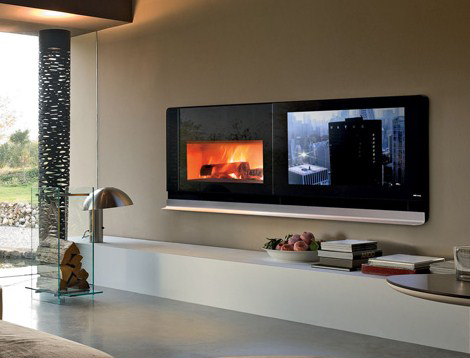 Scenario Fireplace TV Solves the Television On Top of the Fireplace Problem