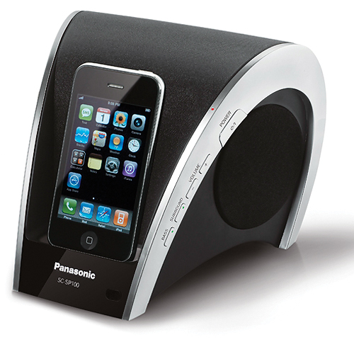 The Curved Panasonic SC-SP100 iPod Dock
