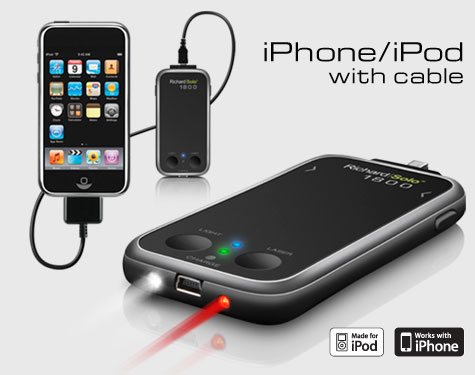 RichardSolo 1800 Battery Backup for iPhone with Flashlight