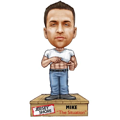 Woww! It's Jersey Shore Talking Bobbleheads! Snooki, The Situtation, Pauly D