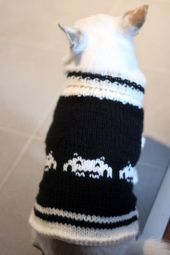 Space Invaders Dog Coat for the Nerdiest Dog on the Block