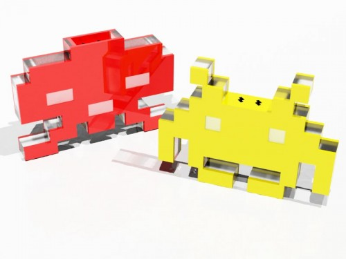 Spicy Invaders Salt and Pepper Shakers