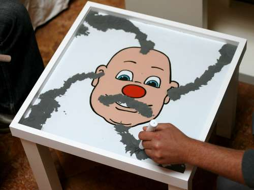 Make Your Own Wooly Willy Table