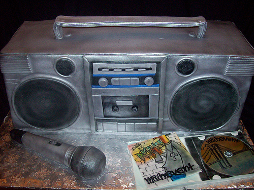 Boombox Birthday Cake Rocks