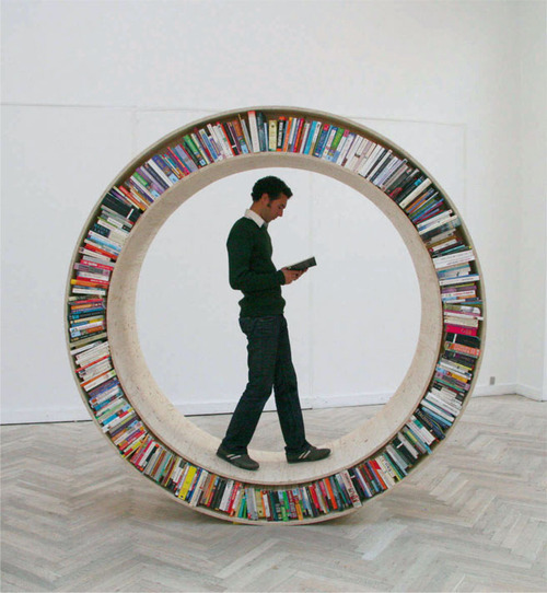 Circular Bookshelf- Not Just for Well Read Hamsters Anymore