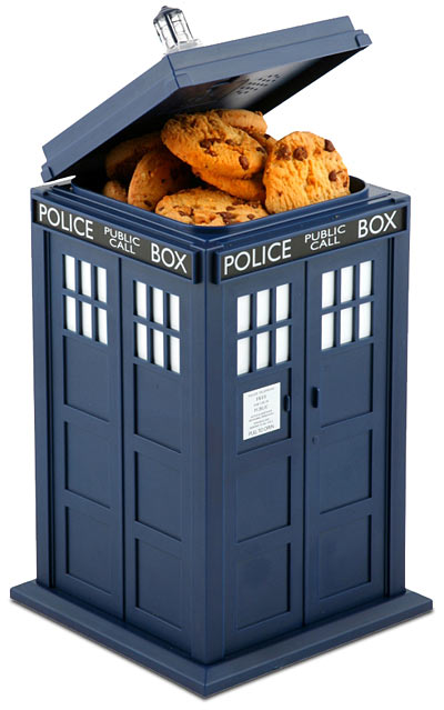 Dr who tardis talking cookie jar craziest gadgets - Tardis cookie jar ...