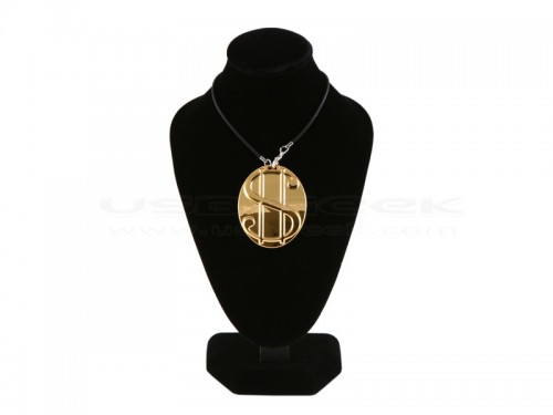 Pimped Out Gold Dollar Sign Coin USB Drive