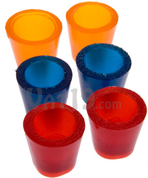 gummy shots red blue orange Pinboard