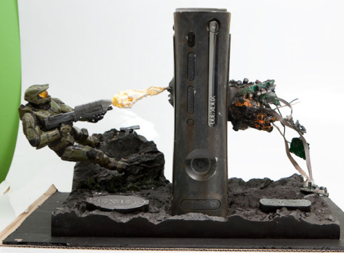 Incredible Master Chief Halo XBox 360 Case Mod Craziest Gadgets