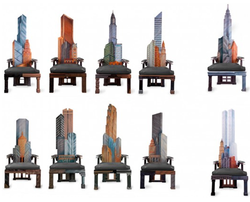 manhattan skyline chairs all Incredible New York City Skyline Chairs