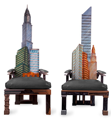 manhattan skyline chairs Incredible New York City Skyline Chairs