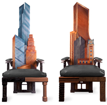 manhattan skyline chairs2 Incredible New York City Skyline Chairs