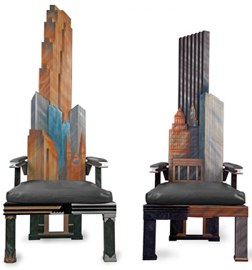manhattan skyline chairs3 Incredible New York City Skyline Chairs