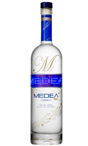 Medea Vodka Bottle with a Programmable LED Screen