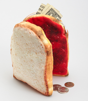 pbj pouch filled Peanut Butter and Jelly Pouch